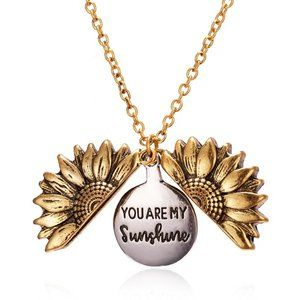 Jewelry - You Are My Sunshine Open Locket Sunflower Necklace